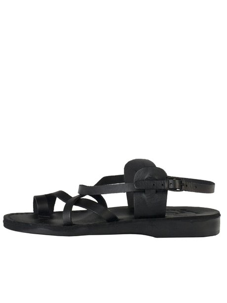 american apparel, sjsmsandlm, mens jerusalem sandal with straps - none | black