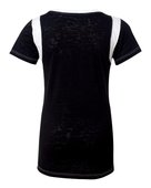 blue 84, jbit, juniors' burnout football tee - none | black/ white