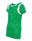 blue 84, jbit, juniors' burnout football tee - none | green/ white