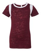 blue 84, jbit, juniors' burnout football tee - none | maroon/ white