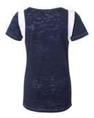 blue 84, jbit, juniors' burnout football tee - none | navy/ white