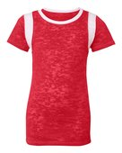 blue 84, jbit, juniors' burnout football tee - none | red/ white