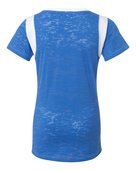 blue 84, jbit, juniors' burnout football tee - none | royal/ white