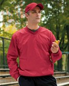 harriton, m720, athletic v-neck pullover jacket - none |