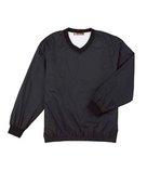 harriton, m720, athletic v-neck pullover jacket - none | black