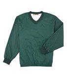 harriton, m720, athletic v-neck pullover jacket - none | dark green