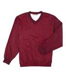 harriton, m720, athletic v-neck pullover jacket - none | maroon