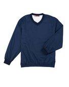 harriton, m720, athletic v-neck pullover jacket - none | navy