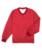 harriton, m720, athletic v-neck pullover jacket - none | red
