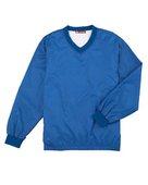 harriton, m720, athletic v-neck pullover jacket - none | true royal
