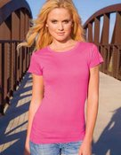 alstyle, 5562, juniors sheer jersey full length tee - none  