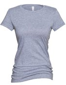 alstyle, 5562, juniors sheer jersey full length tee - none | athletic heather
