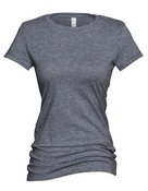 alstyle, 5562, juniors sheer jersey full length tee - none | charcoal heather