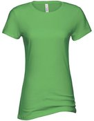 alstyle, 5562, juniors sheer jersey full length tee - none | lime green