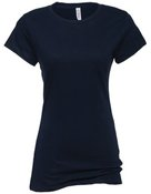 alstyle, 5562, juniors sheer jersey full length tee - none | navy