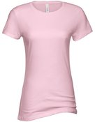 alstyle, 5562, juniors sheer jersey full length tee - none | pink