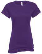 alstyle, 5562, juniors sheer jersey full length tee - none | purple