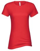 alstyle, 5562, juniors sheer jersey full length tee - none | red