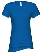 alstyle, 5562, juniors sheer jersey full length tee - none   royal