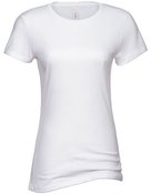 alstyle, 5562, juniors sheer jersey full length tee - none | white