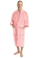 port authority, r100, terry velour robe. - none | light pink