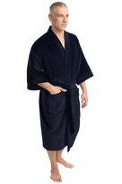 port authority, r100, terry velour robe. - none | navy