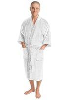 port authority, r100, terry velour robe. - none | white
